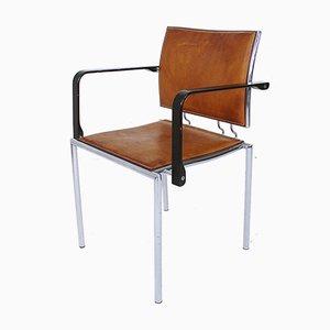 Schweizer Quadro Armlehnstuhl mit Stahlgestell von Bruno Rey & Charles Polin für Dietiker, 1990er
