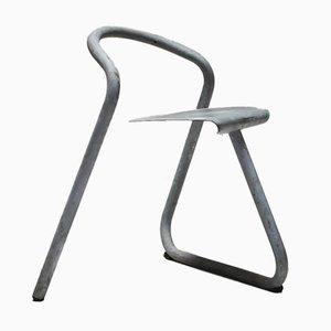 Sillas apilables danesas de acero galvanizado de Erik Magnussen, 1989. Juego de 9