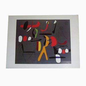 Litografía italiana vintage de Joan Miró