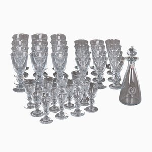 Vintage Glasses & Carafe Set by Per Lütken & Des Asmussen for Holmegaard