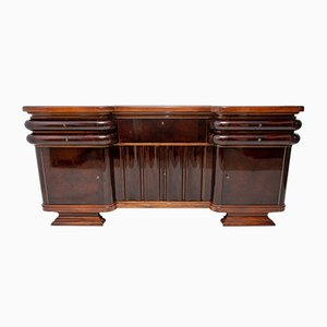 French Art Deco Walnut Buffet, 1930s