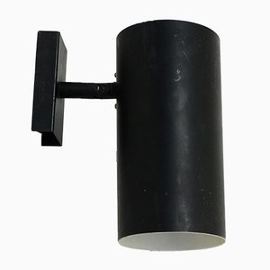 Vintage Black Lacquered Sconces from Lita, 1950s, set of 2
