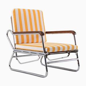 Vintage Sessel aus verchromtem Stahlrohr