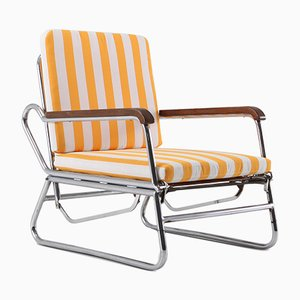Vintage Tubular Chrome Lounge Chair