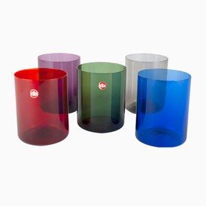 Vasos de Ingrid Glashütte, años 60. Juego de 5