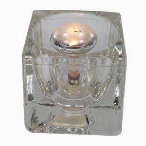 Würfelförmige Tischlampe aus Glas von Putzler, 1960er