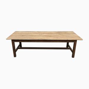 mesa de granja industrial antigua de roble