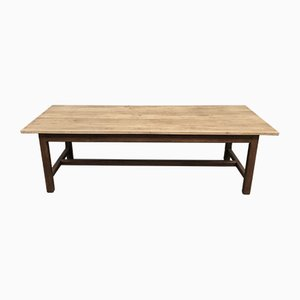 Tavolo da fattoria industriale antico in quercia