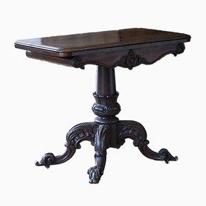 Klappbarer viktorianischer Kartentisch aus Palisander