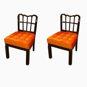 Französische Vintage Beistellstühle, 1920er, 2er Set