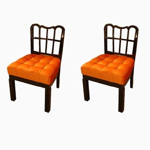 Vintage French Side Chairs, 1920s, Set of 2