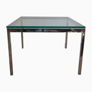 Table Basse en Verre & en Chrome par Florence Knoll pour Knoll International, 1970s
