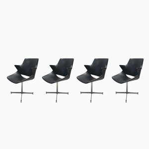 Mid-Century Dutch Leatherette Arm Chairs by Geoffrey Harcourt for Artifort, 1960s, Set of 4