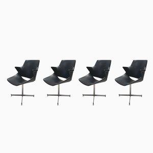 Niederländische Mid-Century Lehnstühle aus Kunstleder von Geoffrey Harcourt für Artifort, 1960er, 4er Set