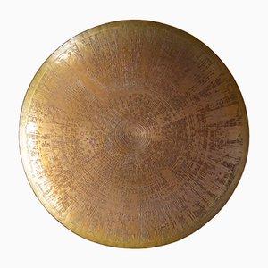 Scodella in metallo di Harjes Metallkunst, anni '60