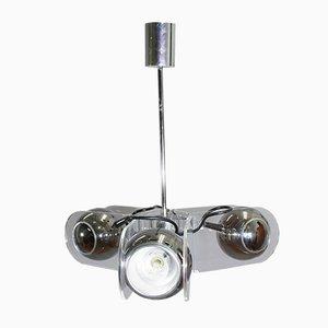 Lámpara de araña modelo 540 de plexiglás y metal cromado de Gino Sarfatti para Arteluce