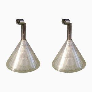 Lámparas colgantes Pulegoso de Carlo Nason para Mazzega, años 70. Juego de 2