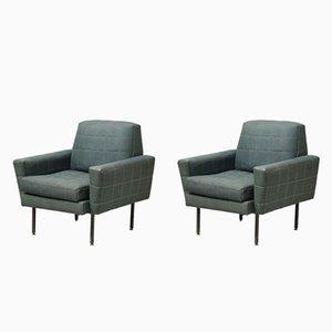 Grüner Vintage Sessel, 1950er, 2er Set
