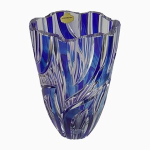 Blue Crystal Vase from Nordbohm, 1960s
