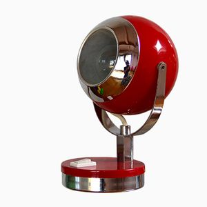 Space Age Red Table Lamp, 1960s