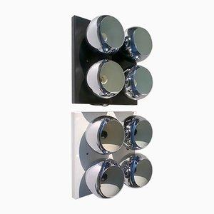 Mirage Wandlampen von Angelo Lelii für Arredoluce, 1970er, 2er Set