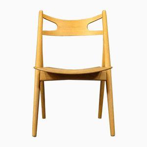 Mid-Century CH29 Sawbuck Chair by Hans J. Wegner for Carl Hansen & Søn, 1950s
