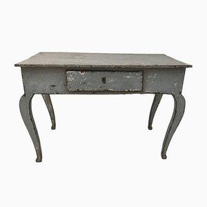 Mesa antigua de pino con cajón
