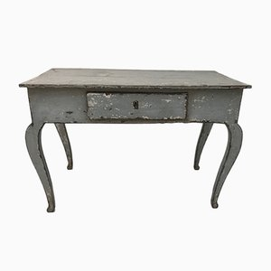 Table Antique en Pin avec 1 Tiroir