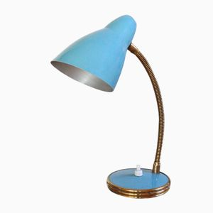 Mid-Century Italian Light Blue Lamp, 1950s