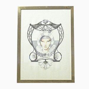 Impresión vintage de Andrea oni, años 70