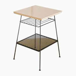 Mesa francesa de formica lacada y hierro, años 60
