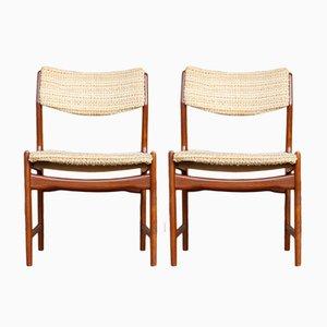 Chaises de Salon Vintage en Teck, 1960s, Danemark, Set de 2
