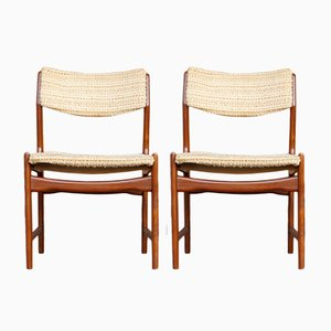 Vintage Danish Teak Dining Chairs, 1960s, Set of 2