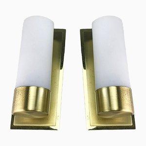 Lámparas de pared Mid-Century de latón de Eglo, años 70. Juego de 2