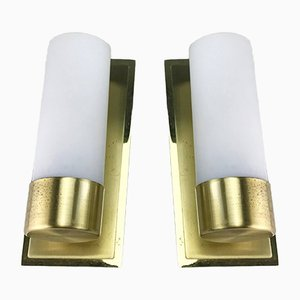 Mid-Century Brass Wall Lights by Eglo, 1970s, Set of 2