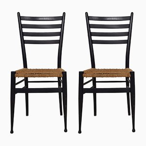 Vintage Italian Model 30 Dining Chairs, 1960s, Set of 2