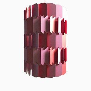 Rosafarbene Facet Pop Deckenlampe von Louis Weisdorf für Lyfa, 1970er