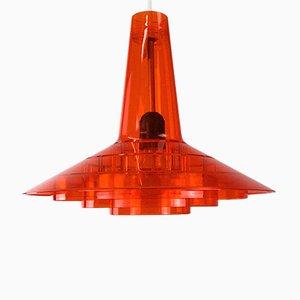 Lámpara de techo danesa era espacial de Bent Karlby para ASK, años 70