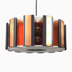 Lámpara de techo danesa Mid-Century de Werner Schou para Coronell Electro, años 60