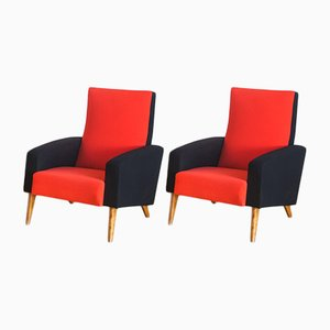 Vintage French Lounge Chairs, 1950s, Set of 2