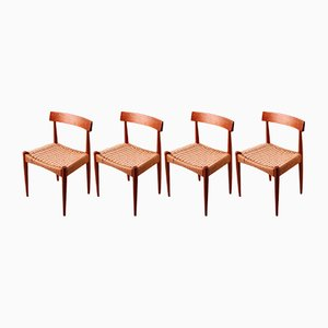 Dining Chairs by Arne Hovmand Olsen for Mogens Kold, 1960s, Set of 4