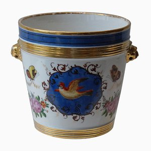 Macetero parisino antiguo de porcelana, década de 1880