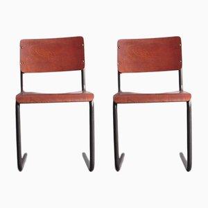 Chaises Mid-Century Bauhaus, 1950s, Set de 2