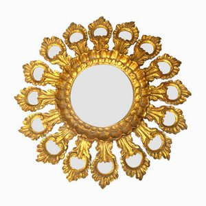 Specchio vintage a forma di sole, anni '20
