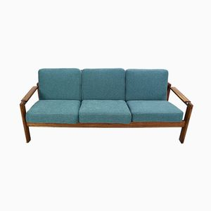 Sofá de tres plazas vintage de palisandro, años 60