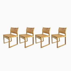 Dänische BM61 Esszimmerstühle von Børge Mogensen für Fredericia, 1950er, 4er Set
