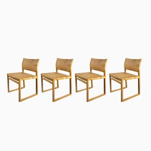 Danish BM61 Dining Chairs by Børge Mogensen for Fredericia, 1950s, Set of 4