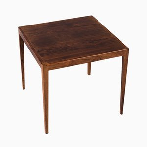 Mid-Century Danish Square Rosewood Side Table