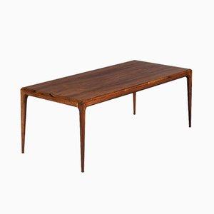 Table Basse en Teck par Johannes Andersen pour CFC en Soieeborg, Danemark, 1960s