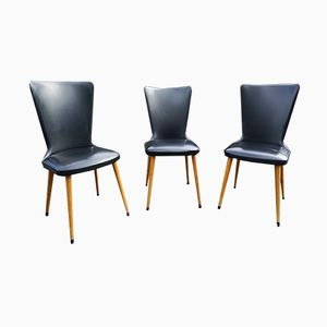 Mid-Century Leatherette Dining Chairs, 1960s, Set of 3